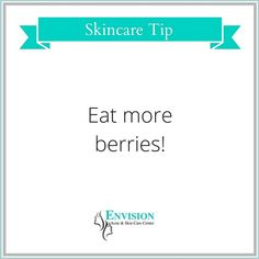 Berries are rich in antioxidants and vitamin C. They also have a low glycemic index so they won't raise your blood sugar. Since sugar can cause breakouts, eating berries will reduce the risk of pimples.