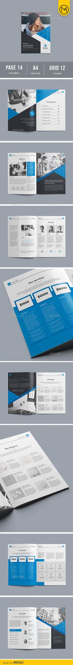 Brochure — InDesign INDD #indesign #project • Download ➝ https://graphicriver.net/item/brochure/19404265?ref=pxcr