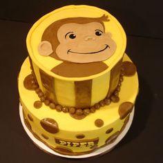Serendipity Cake Design: Curious George strikes again! Curious George Cakes, Curious George Party, Curious George Birthday, Cute Cakes, Yummy Cakes, Beautiful Cakes, Amazing Cakes, Best Lemon Bars, Character Cakes