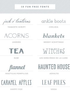 Free Fonts Haul V7 -- Little White Whale ~~ {10 free fonts w/ easy download links}