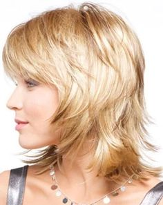 Medium Shaggy Layered Hairstyles with Bangs - Cute Medium Hairstyles