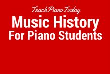 Piano teaching materials to teach music history to piano students.