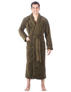 4b43c8118f Men s Premium Coral Fleece Full Length Plush Spa Bath Robe