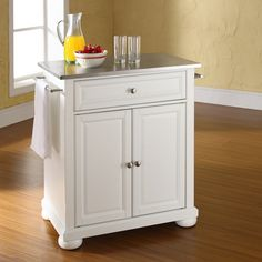 Crosley Alexandria Stainless Steel Top Portable Kitchen Island