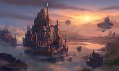Castle in the sky, MEMESU . on ArtStation at…