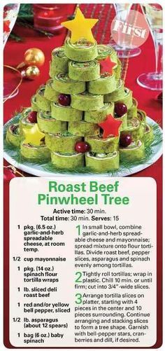 Roast Beef Pinwheel Tree More Grinch Party, Le Grinch, Grinch Christmas Party, Christmas Party Themes, Christmas Snacks, Xmas Food, Christmas Appetizers, Christmas Goodies, Holiday Treats