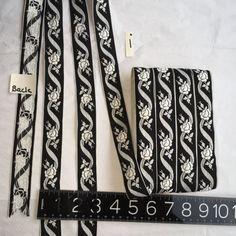 Vintage French Black and White  Jacquard Ribbon by AnafrezNotions