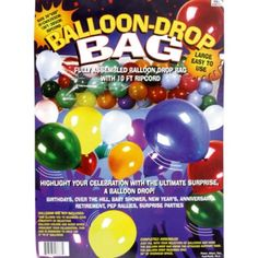 Balloon Drop Bag 36in x 80in - Balloon Clips & Pumps - Birthday Balloons - Birthday Party Supplies - Categories - Party City Canada