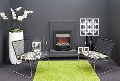 Faber Niva Zwart - Authentieke kachel stijl met verlichting en een ultra-fijne waterdamp. Double Vitrage, Outdoor Furniture Sets, Outdoor Decor, Barcelona Chair, Lounge, Home Decor, Styles, Black, Hanging Fireplace