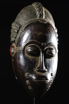 Masque de rejouissance Mblo Royal - Baoule - Côte d'Ivoire - Objet n°4609 - Galerie Bruno Mignot African Masks, African Art, Sculpture, Ivoire, Portrait, Plump Lips, Face Peel Mask, Erotic Art, African