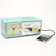 Crosely Table Alarm Clock Speaker For MP3 Players | Coolest stuff for gift