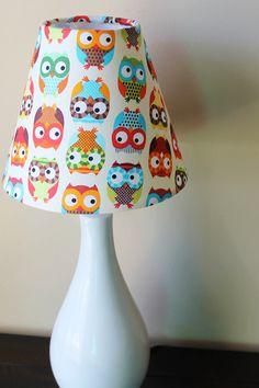 Bright Owls - Lamp Shade. $25.00, via Etsy.