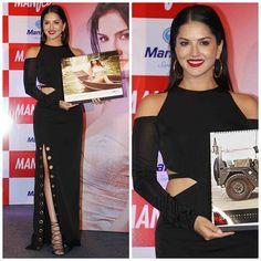 #SunnyLeone in Black Unveils Her Hot New Calendar #Bollywood #BollywoodNews