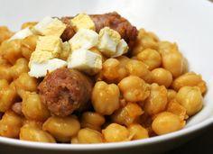 Garbanzos con salchicha para #Mycook http://www.mycook.es/cocina/receta/garbanzos-con-salchicha