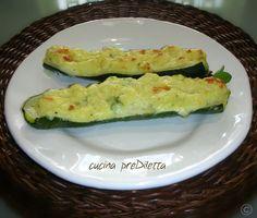 Zucchine ripiene con purè di patate