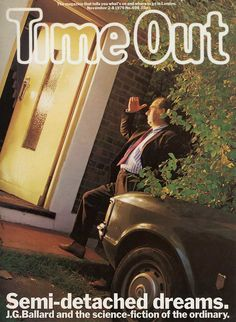 J.G. Ballard by Brian Griffin, Time Out, November 2-8, 1979. Art director: Pearce Marchbank. See the Exposure column at Design Observer. http://designobserver.com/feature/exposure-jg-ballard-by-brian-griffin/38852/