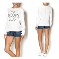 Wildfox Hangover Club Beach Jumper Welcome to the hangover club. The perfect sweater to throw on, on those hazy mornings. Wildfox's signature soft material and perfectly oversized fit makes it the perfect summer sweatershirt! Fit runs large.  Made in: USA Fiber Content: 47% rayon 47% polyester 6% spandex Wildfox Tops Sweatshirts & Hoodies