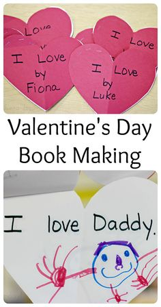 One of my favorite preschool valentine activities is making books about what the children love.  Easy, fun, and meaningful!