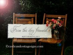 From this day Forward vintage sign weddings anniversary gift -$45.00