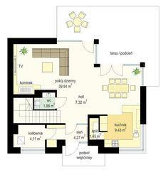 Projekt domu Viking 3 - rzut parteru