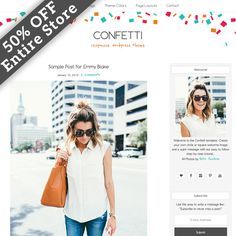 50% OFF Confetti WordPress Theme by Studio Mommy on Creative Market