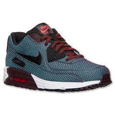 Men\u0026#39;s Nike Air Max Lunar90 Premium Running Shoes | Finish Line | Deep Burgundy/Black