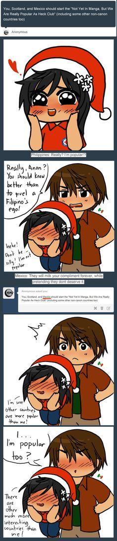 You know what my other bro/sis otp is? Mex and Piri Hetalia Philippines, Hetalia Headcanons, Hetaoni, Hetalia Anime, I Love To Laugh, Tumblr Posts, Funny Comics, Mexico, Hilarious