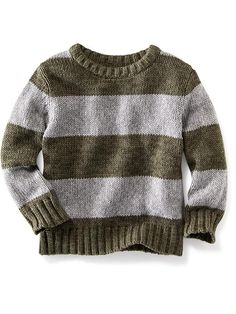 Rugby-Stripe Crew-Neck Sweater for Baby. Ezra 12-18 months