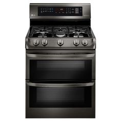 Lg Easyclean 30-In 5-Burner 4.3-Cu Ft/2.6-Cu Ft Double Oven Convection