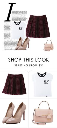 """""""Sin título #3855"""" by onedirection-h1n1l2z1 on Polyvore featuring Uniqlo, Illustrated People, WithChic y Michael Kors"""