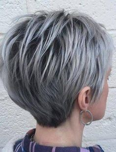 Grey hair or pixie cut? In this post you will find the best images of Pixie Haircut for Gray Hair that you will love! Hair trends come and. Best Short Haircuts, Short Hairstyles For Women, Messy Hairstyles, Hairstyle Ideas, Wedge Hairstyles, Hair Ideas, Hairstyles 2018, Short Hair Cuts For Women Over 50, Fringe Hairstyles