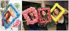 Ideia linda, para tirar fotos!!! Molduras com flores!!!