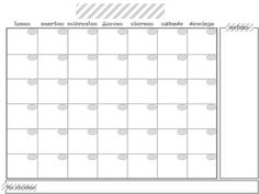 Blank Monthly Calendar Free Printable  Filofax And Free