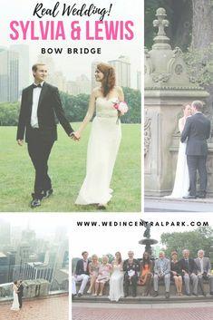 Sylvia and Lewis' Wedding on Bow Bridge, Central Park, New York