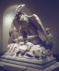 Eagle and weapons from an Augustan-era funerary monument, probably that of Messalla (Prado, Madrid)