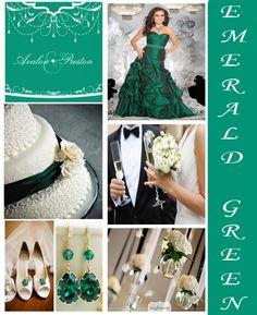 Stunning Emerald Green wedding idea's by @Judy Clark By Designs & Faith Gauthier