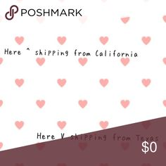 Shipping This is the midpoint between my items. Some are coming from California and some from Texas. Please try to keep bundles between 1 state. If it's from both states a separate shipping label will be purchased and they will arrive separately Other