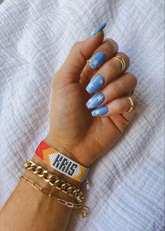 Blue Acrylic Nails, Acrylic Nails Coffin Short, Simple Acrylic Nails, Acrylic Nail Designs, Star Nail Designs, Matte Nails, July 4th Nails Designs, Blue Gel Nails, 4th Of July Nails