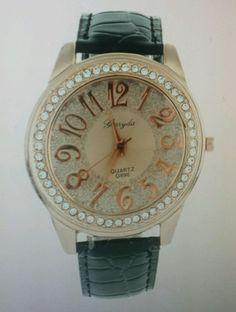 Hot Mens/Womens  Luxury  Watch Leather Band Analog Quartz Bling #WWGO8 #Fashion