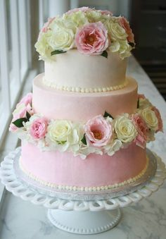 My Ombre Blush Pink and Ivory Wedding Cake by Peter Gray (Pete's Sweets) from America's Next Great Baker/Cake Boss