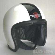 Davida speedster Helmets:  two tone White,Black  Product Code: 90210