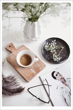 love all the white and the feel like the person is in the middle of their morning routine | bywstudent
