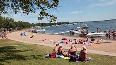 Public Beach at Detroit Lakes, MN