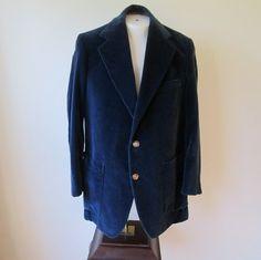 70's OSCARS WORTHY Custom Tailored Midnight Blue by Thriftology101