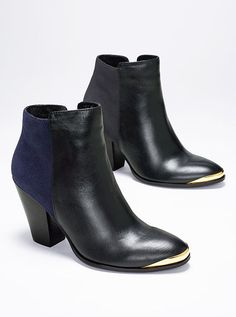 Gold-tipped Bootie