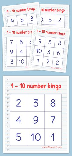 Play virtual BINGO with your friends for free on any device. Customize the bingo cards and generate printable or virtual bingo cards for free. Teaching Numbers, Numbers Kindergarten, Numbers Preschool, Math Numbers, Preschool Printables, Preschool Learning, Teaching Math, Numbers 1 10, Bingo For Kids
