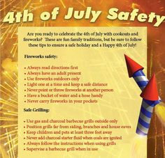 Be safe this 4th of July