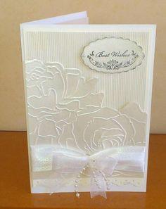 Wedding card for friends using Manhattan Flower Folder