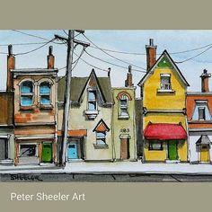watercolour ink landscape urban - Google Search