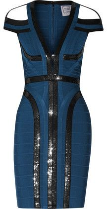 58e95841dc86 Hervé Léger cobalt-blue and black Lianna dress - Bandage Max Azria